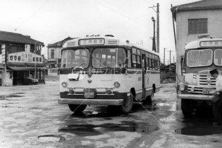 名鉄バス 国鉄岡崎駅前 愛知 昭和25 1950