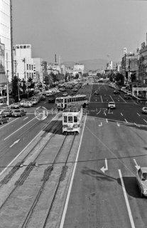 豊橋鉄道 豊橋市内線 駅前停留所旧-新川停留所 現駅前大通停留場付近1976年
