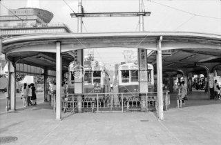 京都市電 京都駅前 1972年7月