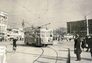京都市電 京都駅前 昭和27 1952