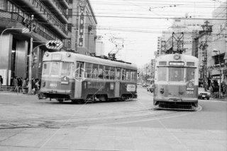 京都市電 京都駅前 1971年2月