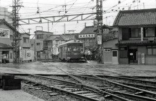 南海電鉄 大阪軌道線 住吉駅 天王寺駅前行き No.151 1975年8月
