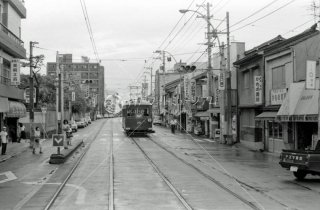 南海電鉄 大阪軌道線上町線 帝塚山三丁目駅 1975.8