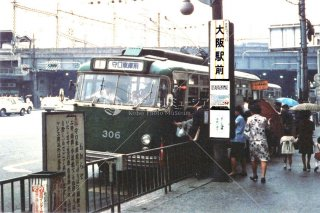 大阪市営トロリーバス 大阪駅前 無軌条電車 昭和44 1969