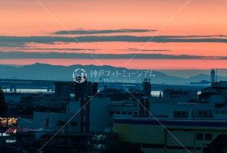 関空飛行機 夕景