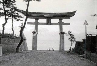 海神社 浜大鳥居 昭和34年