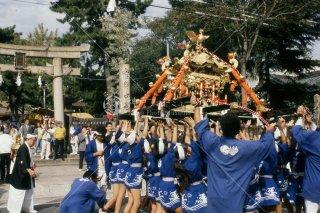 海神社秋祭り 神輿 石鳥居