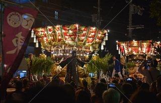 海神社秋祭 東垂水 西垂水布団太鼓 海神社前 平成28