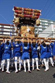 海神社秋祭 西垂水布団太鼓 倉出 差し上げ 平成29