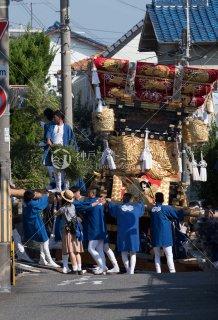 海神社秋祭 西垂水布団太鼓巡行 霞ヶ丘6丁目急坂 平成29
