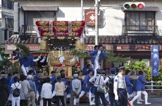 海神社秋祭 西垂水布団太鼓巡行 星陵台 平成29b