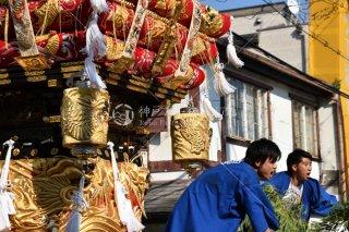 海神社秋祭 西垂水布団太鼓巡行 垂水郵便局前 平成29