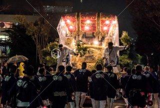 海神社秋祭 東高丸布団太鼓巡行 イオンジェームス山 平成30年