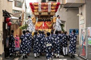 海神社秋祭 塩屋布団太鼓巡行 平成30年