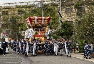 海神社秋祭 塩屋布団太鼓巡行 第一中野センター 平成30年