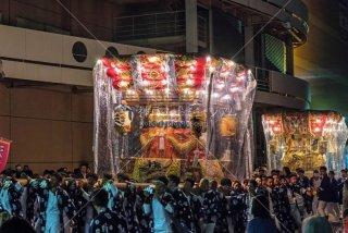 海神社秋祭 塩屋布団太鼓 イオンジェームス山 平成30年