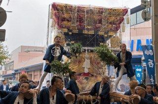 海神社秋祭 西垂水布団太鼓巡行 垂水センター街 平成30年
