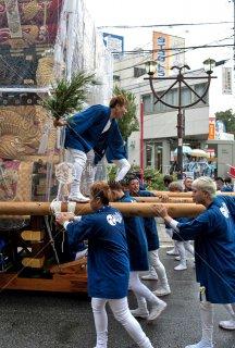 海神社秋祭 西垂水布団太鼓巡行 神戸天ノ下郵便局 平成30年