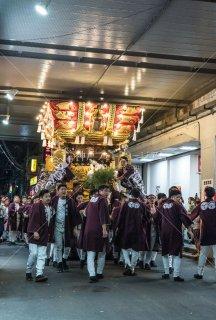 海神社秋祭 東垂水布団太鼓 JR 山陽電車ガード 平成30年