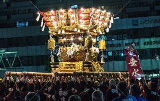 海神社秋祭 東垂水布団太鼓差し上げ レバンテ広場 平成30年