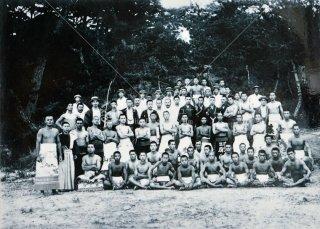 伏見宮博義王殿下御前相撲記念 五色山 集合 大正五年八月弐日