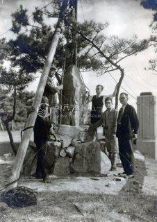 孫中山記念碑建立 舞子公園 昭和23年10月