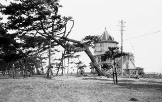 舞子公園と移転前の移情閣 S39
