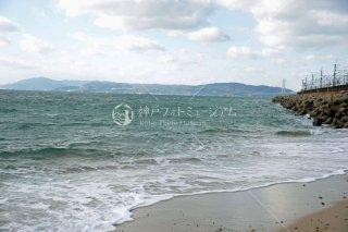 須磨海釣り公園付近より淡路島遠望 平成26.11 2014