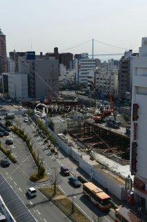 明石駅前再開発 ロータリー 明石海峡大橋遠望 平成27年 2015.3