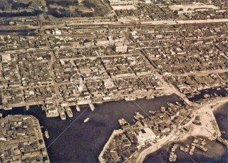 明石フェリー上空 昭和37,1962