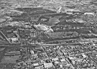 明石城上空 昭和37,1962