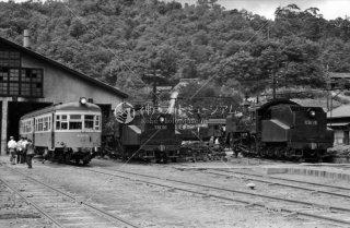 木次機関区 左キハ0713 C56104 C56110 1964年8月
