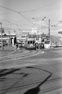 広島電鉄 市内線 広島駅前停留所 570形577 1975年11月