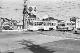 広島電鉄 市内線 的場停留所 771 1975年11月