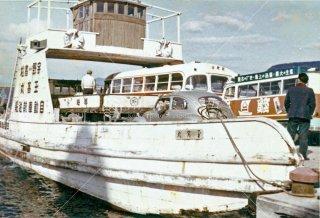 玉高丸 宇野-高松 自動車航送船 高松港 昭和34年 1959