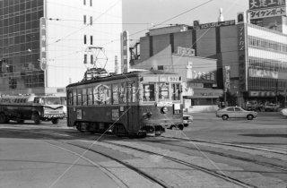 西鉄 博多駅前 福岡市内線 500形502 1975年11月