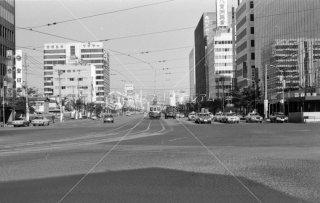 西鉄 博多駅前 交差点 福岡市内線1975年11月