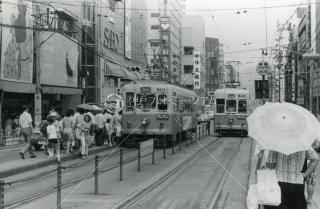 魚町駅 門司301 戸畑643 折尾方面乗り場 昭和52 1977