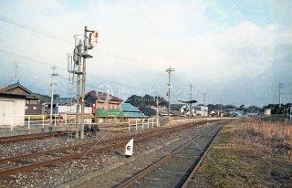 漆生駅 ホーム 漆生線廃止 昭和61 1986