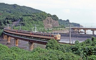 長崎本線 多良 肥前大浦鉄 485系L特急かもめ 昭和54 1979