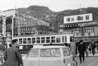 長崎電気軌道 304 長崎駅前 1963年11月