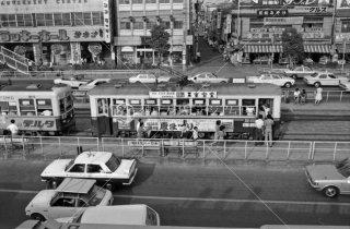 長崎電気軌道 長崎駅前停留所 1974年8月