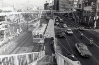 長崎市電 歩道橋 昭和56 1981
