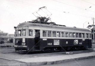 大分交通102 別大線 大分駅前 昭和35.3 1960