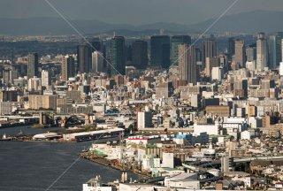 咲洲COSMO TOWER 安治川水門 スカイビル遠望