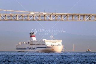 阪急フェリーひびき 明石海峡大橋 りんくうゲートタワービル遠望