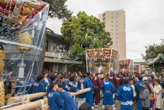 垂水四ヶ村布団太鼓 海神社宮入 令和元年 奉祝