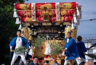 海神社秋祭 西垂水布団太鼓巡行 舞子台 令和元年