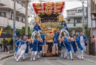 海神社秋祭 西垂水布団太鼓巡行 五色山 令和元年