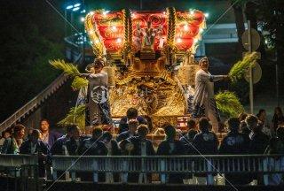 海神社秋祭 東高丸布団太鼓巡行 東垂水町 令和元年